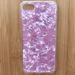 Accessories - NEW Iphone 7/8 Pink Sparkle Shiny Case